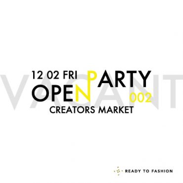 【Event】12/02 OPEN PARTY 002 -CREATORS MARKET- 開催