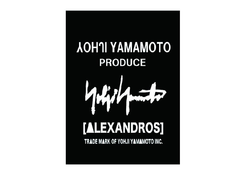 ヨウジヤマモトとAlexandrosがコラボ。伊勢丹新宿にて期間限定で販売。