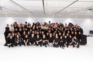 立教大学服飾デザイン研究会によるファッションショー「tone」 集合写真